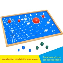 Montessori children nine planets Montessori culture and science teaching aids kindergarten early education cognitive toys 2017 diy the solar system nine planets planetarium model kit science astronomy project early education for children