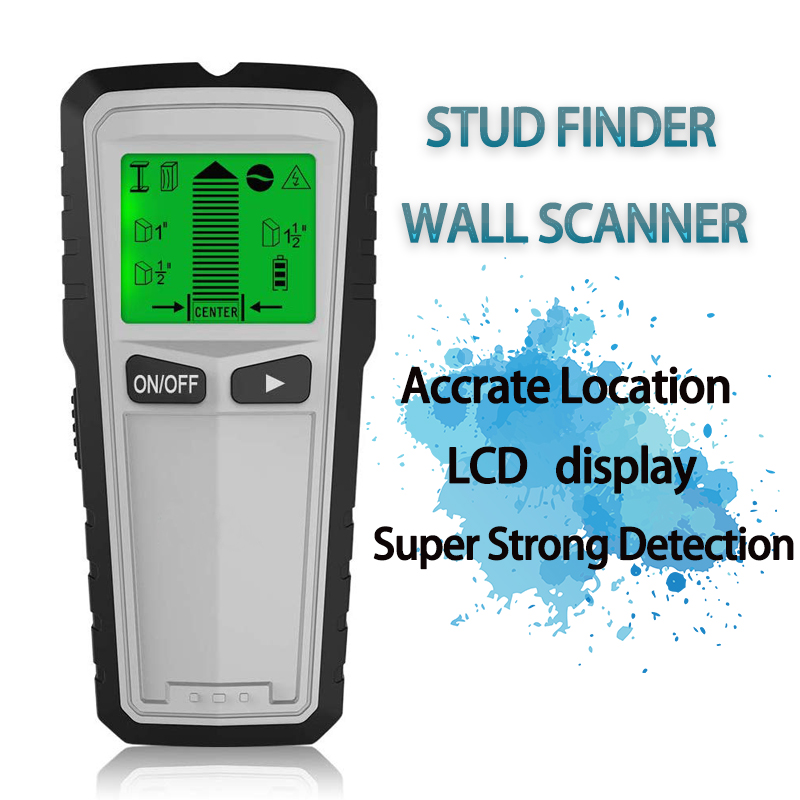 3in1 LCD Wand Metalldetektor Stud Center Finder AC Live Wire Scanner Tool