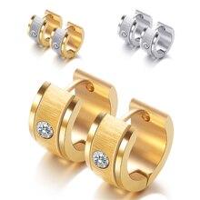 Earrings Swarovskis Jewelry Crystal Stainless-Steel Women Fashion New Zircon Brushed