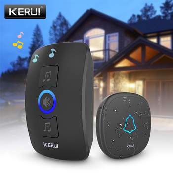 KERUI M525 Wireless Doorbell Kit Home Security Smart Doorbell Chimes 4 Levels Volume 32 Songs Friend Visiting Welcome System 1