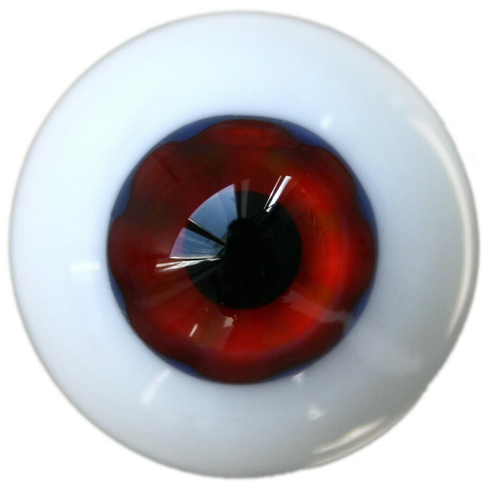 [wamami] 6mm 8mm 10mm 12mm 14mm 16mm 18mm 20mm 22mm 24mm Red Glass Eyes Eyeball BJD Doll Dollfie Reborn Making Crafts