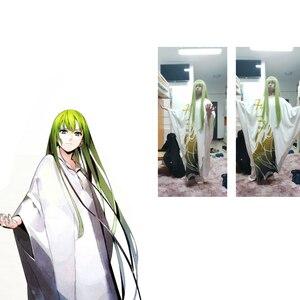 """Image 5 - Code Geass C.c Cc impératrice Cosplay perruque 100cm 39 """"vert longue fibre de cheveux résistant Peruca Anime perruques de déguisement"""