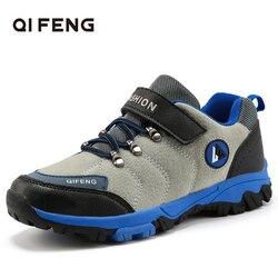 Nowe mody dzieci odkryte sportowe obuwie turystyczne  dzieci sportowe wspinaczka Trekking obuwie  chłopiec popularne wygodne buty zimowe w Buty turystyczne od Sport i rozrywka na