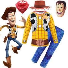Woody trajes do dia das bruxas para meninos cosplay carnaval conjuntos de roupas crianças crianças festa traje da criança roupa para o menino