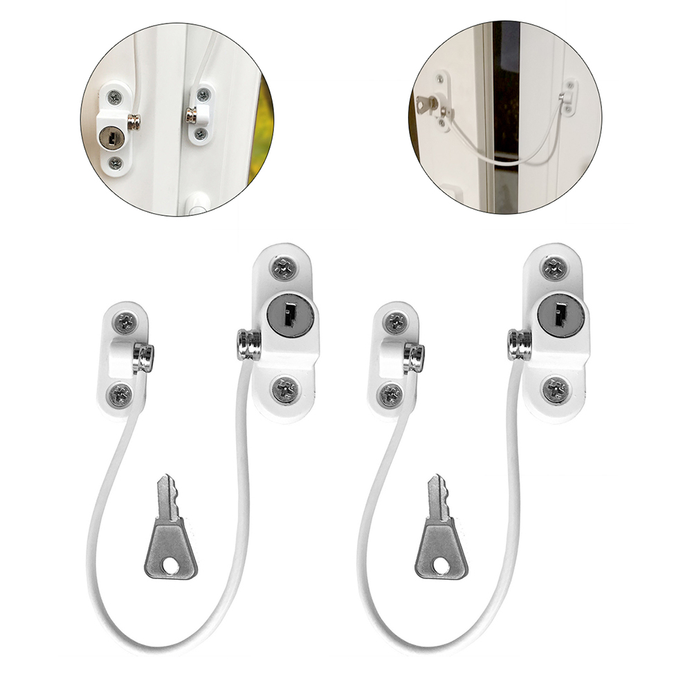 2 Pcs/Set Window Lock Child Protection Baby Safety Infant Security Window Limiter Locks On The Windows Child Safety Baby Locks