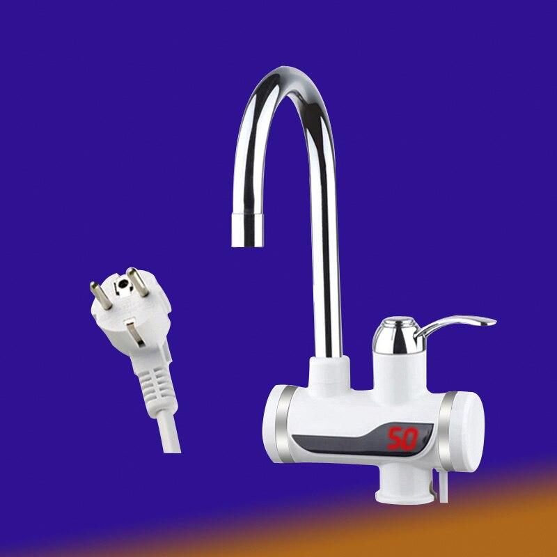 Le plus récent robinet instantané sans réservoir chauffe-eau instantané chauffe-eau robinet cuisine grue à eau chaude Led prise ue numérique
