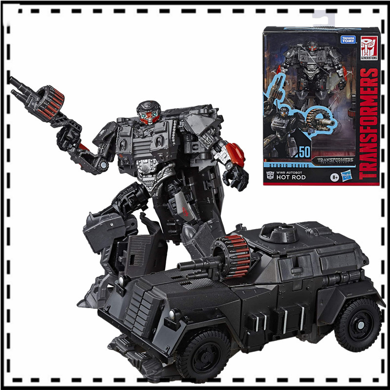 12cm Transformers Toys Studio Series 50 Deluxe The Last Knight Movie WWII Autobot Hot Rod Action Figure Collection Model