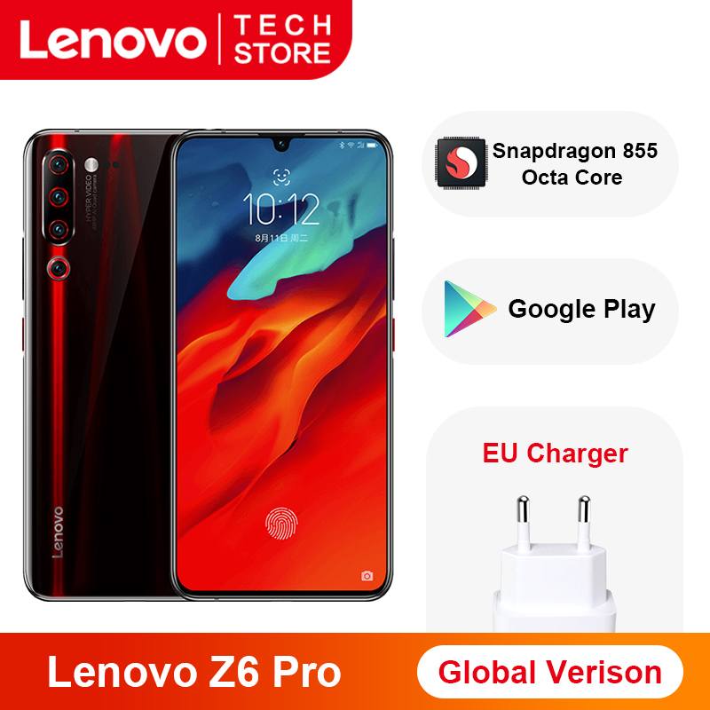 Global Version Lenovo Z6 Pro Snapdragon 855 Octa Core 8GB 128GB 48MP Rear Quad Cameras 6.39