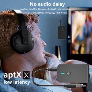 Image 4 - CALETOP APTX Niedrigen Latenz Bluetooth 5,0 Sender Empfänger 2 In 1 3,5mm Audio Wireless Adapter Für Auto TV PC lautsprecher Kopfhörer