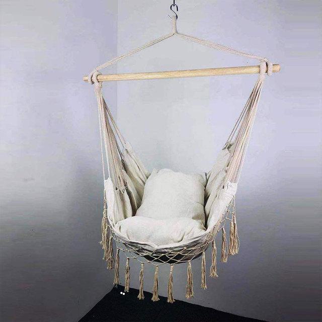 Macrame Hanging Porch Swing Hammock Chair  3