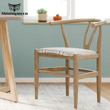 купить Chinese Classical Wooden Chair Modern Dining Room Chairs Coffee Shop Study Chair Retro House Bedroom Learning Makeup Chair дешево
