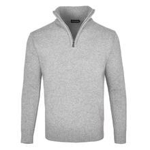 FEINION Men's Polo Sweater Rib Knit Half Zip Pullover Fall W