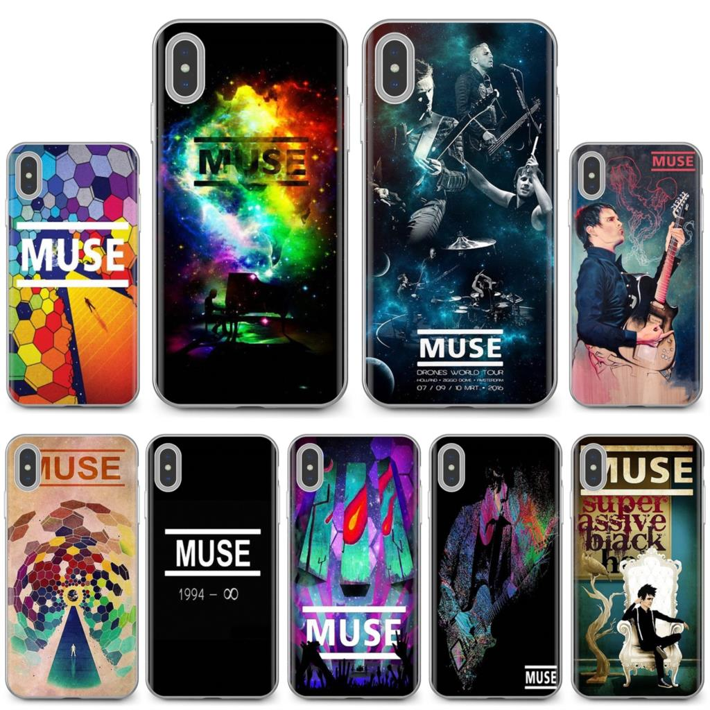 For Samsung Galaxy Note 2 3 4 5 8 9 S2 S3 S4 S5 Mini S6 S7 Edge S8 S9 Plus Muse British rock band poster Buy Silicone Phone Case(China)