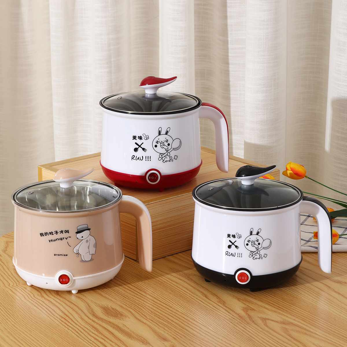220V EU Mini Multifunction Electric Cooking Machine Single Layer Available Hot Pot Multi Electric Rice Cooker