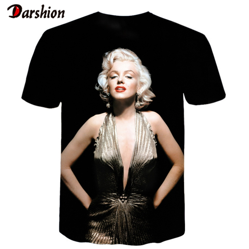 Fashion <font><b>3D</b></font> Print <font><b>Sexy</b></font> Vogue Marilyn Monroe <font><b>Men</b></font> Casual Cool Tshirts <font><b>Men</b></font> Short Sleeve Summer Tops Tees Tshirt Fashion Dropshipping image