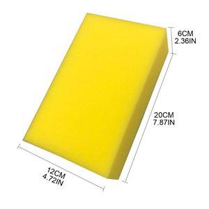 Image 4 - 5 Pcs Gelb Auto Waschen Wachs Quadrat Schwamm Extra Weiche Große Größe Waschen Cellulose Super Saugfähigen Multi verwenden Reinigung werkzeug Teile