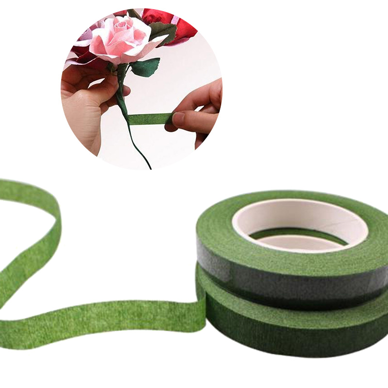 30yard/roll Self-adhesive Bouquet Floral Stem Tape Artificial Flower Stamen Wrapping Florist Green Tapes DIY Flower Supplies