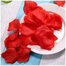 1000/3000 pçs artificial falso flor rosa pétala festa de casamento pétala de flores acessórios pétalas falsas decoração de casamento suprimentos