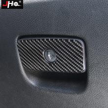 Jho карбоновая Автомобильная Перчаточная коробка с ручкой Накладка