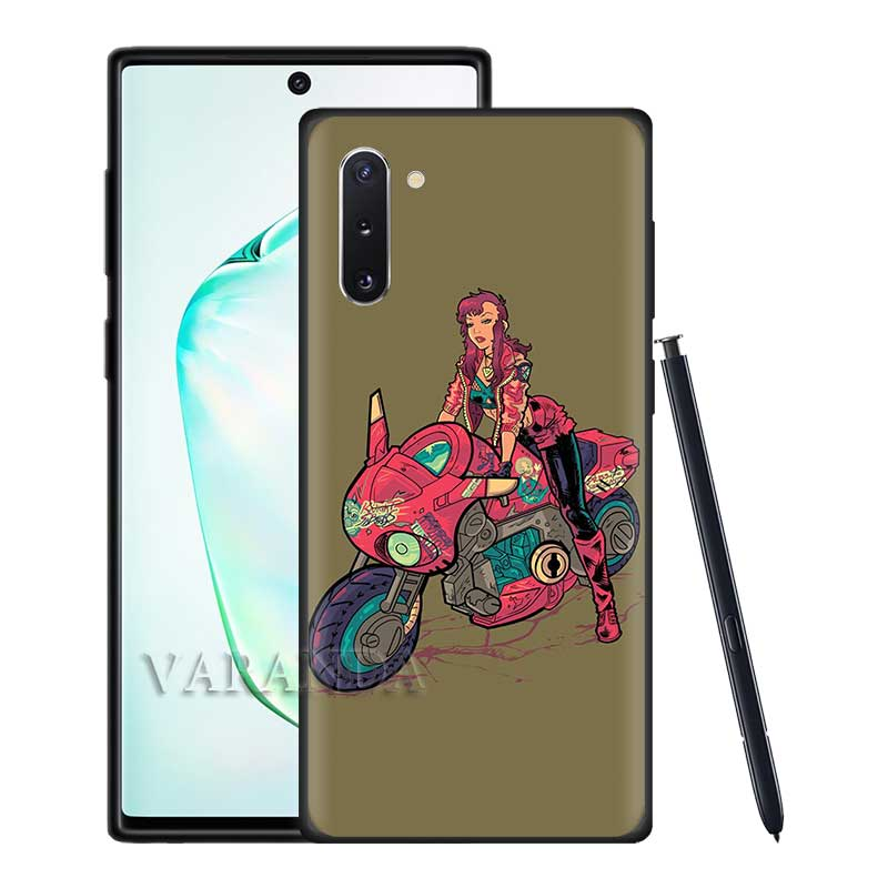 Moto Cross Motorcycle Sports Cases for Samsung Galaxy S20 Ultra S10 5G S10e S9 S8 Plus Note 10 Lite 9 Black Soft Cover Casos