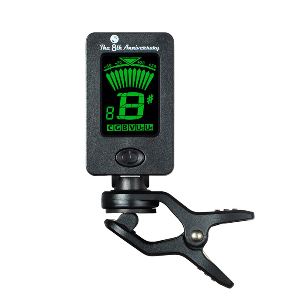 Portable Mini LCD Display Chromatic Clip-On Tuner For Acoustic Guitar Bass Violin Ukulele Musical Instrument