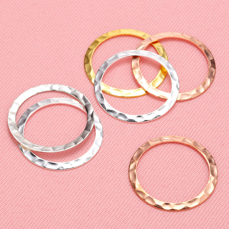Металлические круглые коннекторы для сережек «сделай сам», круглые обручи для браслетов, подвесок, аксессуары для рукоделия, 25 мм