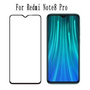 Image 1 - 50 sztuk szkło hartowane dla Xiaomi Redmi uwaga 8 Pro pełny klej folia ochronna dla Xiaomi Redmi 8 pełna pokrywa szkło ochronne