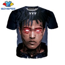 Anime 3d print game t-shirt rock streetwear xxxTentacion rapper mannen Vrouwen mode t-shirt Harajuku kids shirts homme tshirt A228(China)
