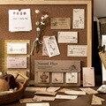 60 листов самостоятельно бумаги для заметок на клейкой основе винтажные растения цветы селфи-Палка с блокноты Ретро Memo размещено блокноты