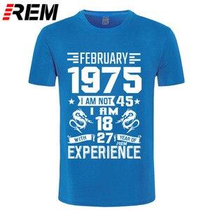 Image 3 - 1975 ANNI di Settembre Ottobre Novembre Dicembre degli uomini della camicia Manica Corta T shirt Stampata Casual Moda Gennaio Febbraio Marzo