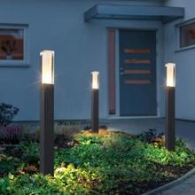 Стиль водонепроницаемый светодиодный садовый Газон лампа современный алюминиевый световой столб наружный двор дачный пейзаж газон блокираторы света