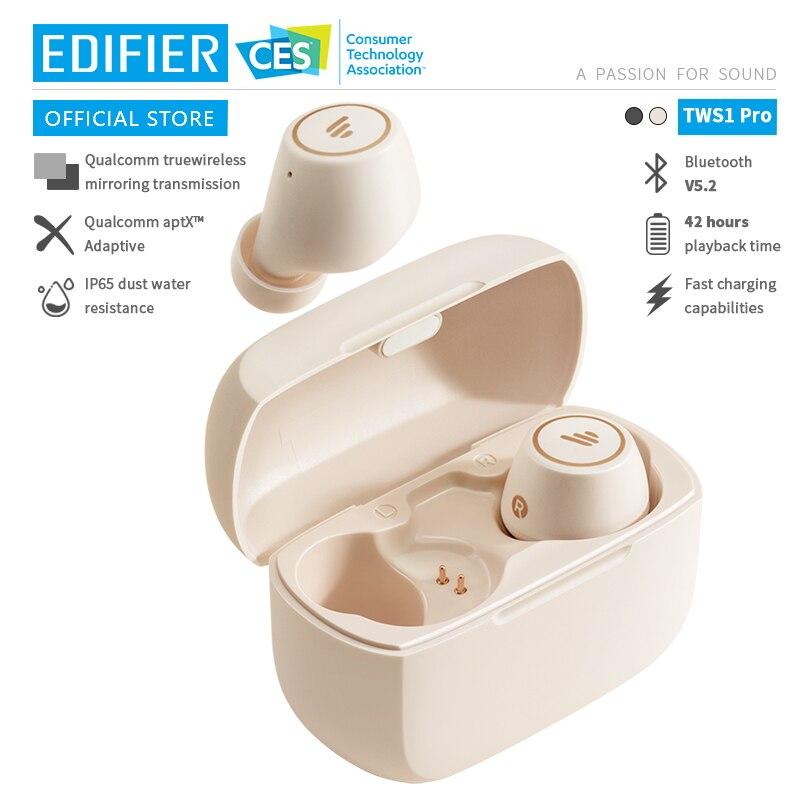 Беспроводные Bluetooth-наушники EDIFIER TWS1 Pro, TWS, Bluetooth V5.2, aptX, возможность быстрой зарядки до 42 часов, время воспроизведения