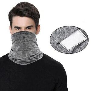 Écharpe Bandanas masque de cou avec filtres à charbon actif de sécurité PM2.5 Anti-pollution sport demi-masque multi-usages masque de cyclisme
