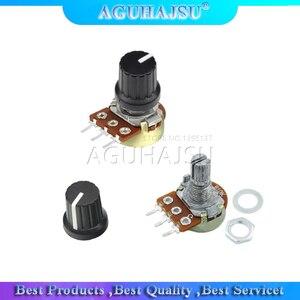 5 шт./лот/лот резистор потенциометра 1K 2K 5K 10K 20K 50K 100K 500K Ом 3-контактный линейный конический вращающийся потенциометр для Arduino с крышкой