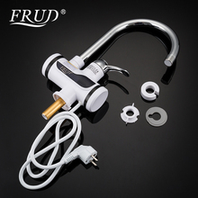 FRUD Water Heater Tap Kitchen Faucet Instantaneous Shower Instant Heaters Tankless Heating tap with LED