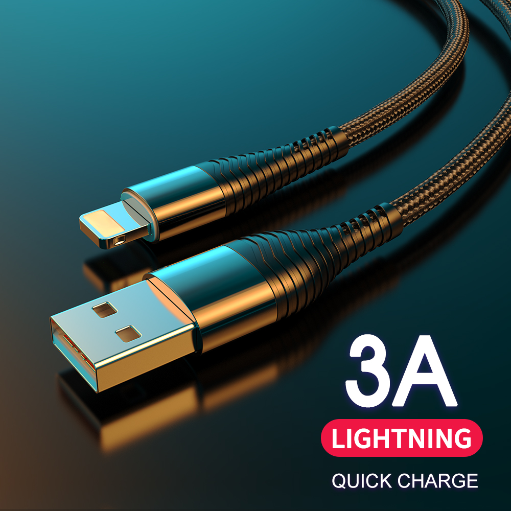 USB Cable for iPhone Charger Data Sync USB 3A Charging lighting Cable for iPad iPhone 11 X XS XR 6 6S 7 8 SE Plus Charger Cord