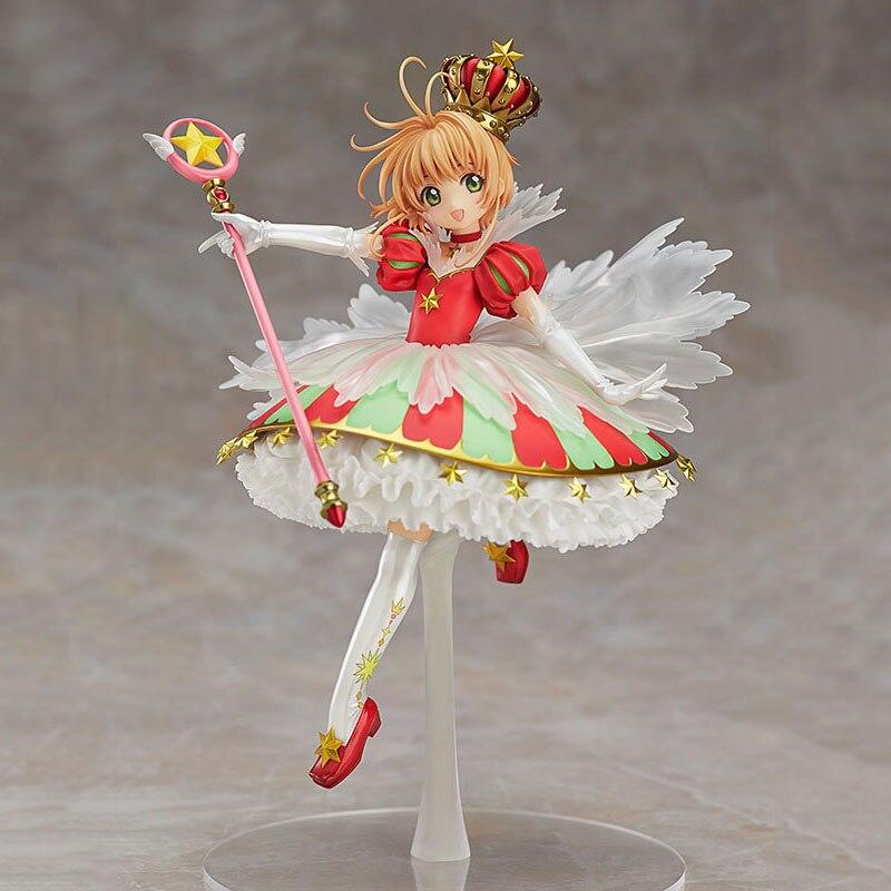 25cm 1/7 échelle Anime carte Captor Sakura Kinomoto Sakura 15th anniversaire PVC figurine Collection modèle poupée