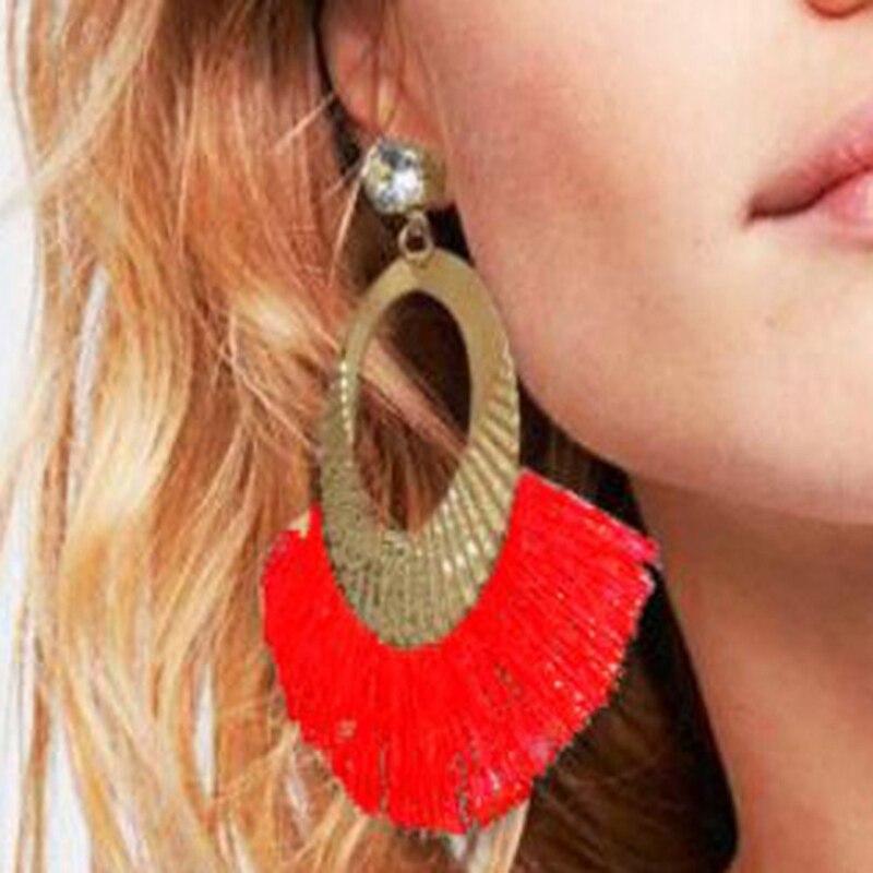 Fashion New Bohemia Style For Women/'s Earrings Handmade Fan Tassels Earrings