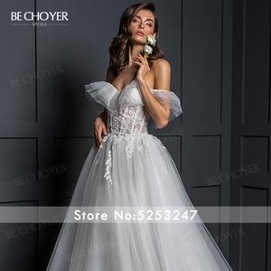 Image 5 - Vestido de Noiva Romantic Appliques Tulle Wedding Dress Sweetheart 2 In 1 Illusion A Line Princess Bride Gown BECHOYER Z124