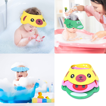 Baby Kids Cap Baby Shower Cap Baby Bath Cap Shower Hat Bath Visor Kids Bath  Bath Wash Hair Shield Hat Cap Protect Eyes Hair lx 9009 cozy fiber bath towel shower cap blue