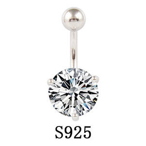 1Pcs 925 Sterling Silver Round