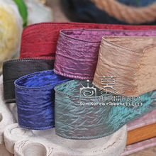 100yards 25mm 40mm wrinkle glitter satin ribbon for bouquet flower gift packing bow hair bow diy accessories handcraft supplies цена и фото
