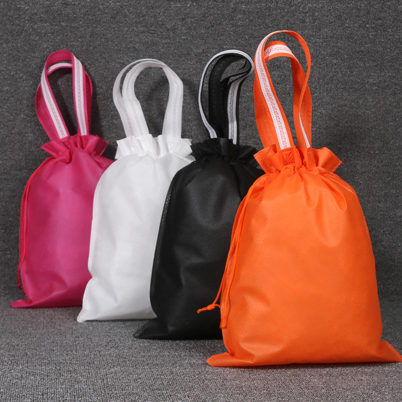Fashion Portable Drawstring Bags Girls Shoes Bags Women Non-woven Travel Pouch Storage Clothes Handbag Dustproof Makeup Bag