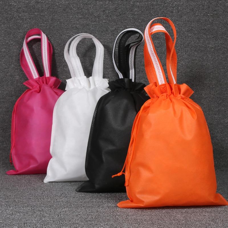Fashion Portable Drawstring Bags Girls Shoes Bags Women Non-woven Travel Pouch Storage Clothes Handbag Dustproof Makeup Bag