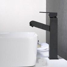 black color basin tap Brass brass balck faucet Hot & Cold Bathroom Sink Lavatory Basin Faucet black mixer tap