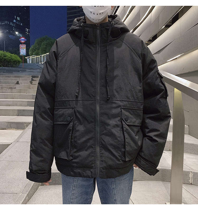 Men's Quality Student Winter Clothes Jacket Men Parka Thick Warm Outwear Korean Youth Streetwear Hip Hop Japan Style Harajuku 22