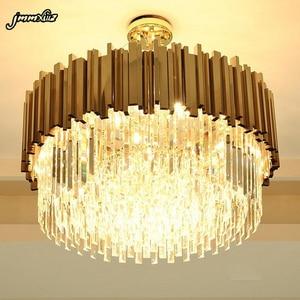 Image 2 - Jmmxiuz nieuwe luxe kristallen kroonluchter verlichting moderne lamp voor woonkamer eetkamer goud kristallen kroonluchter LED verlichting