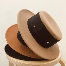 Шляпа Женская шерстяная фетровая Панама с широкими полями шляпа