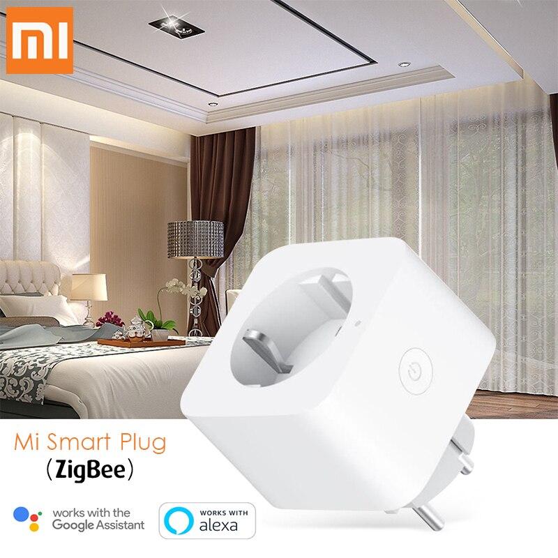 Xiaomi Mijia האיחוד האירופי חכם שקע תקע Zigbee קול שלט רחוק עיתוי למכשירי בית עובד עם Alexa גוגל עוזר