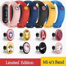 Для Xiaomi mi Band 3 4 ремешок для спортивных часов Силиконовый браслет для ремня браслет для mi band 3 4 Женский Мужской mi band 4 3 ремешок